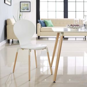 Path Dining Wood Side Chair, White