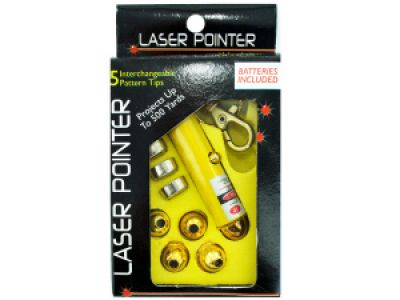 Laser Pointer Key Chain with Interchangeable Heads, 100