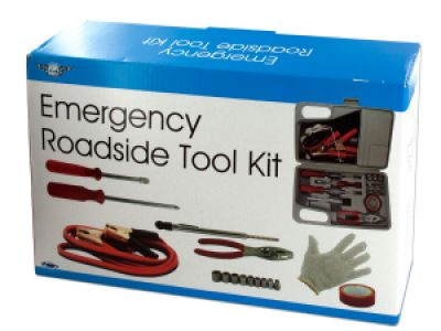 Emergency Roadside Tool Kit in Carrying Case, 1