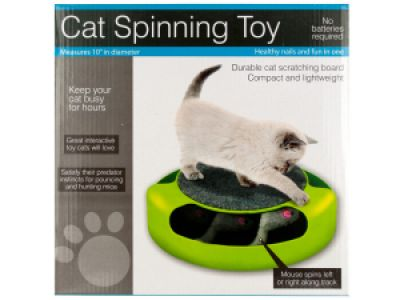 Cat Scratch Pad Spinning Toy with Mouse, 1