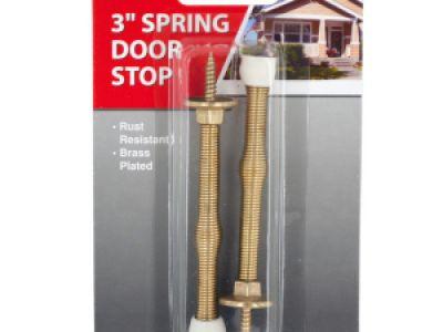 Brass-Plated Spring Door Stops, 144