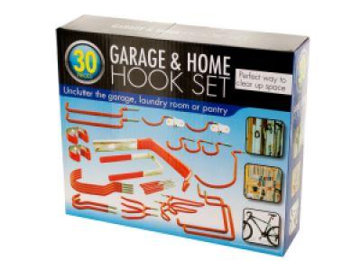 Assorted Garage & Home Hook Set, 6