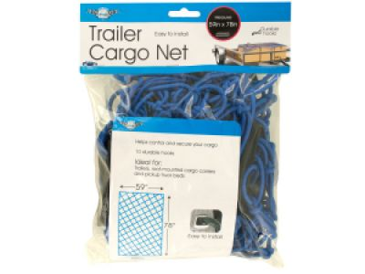 Trailer Cargo Net with Hooks, 4