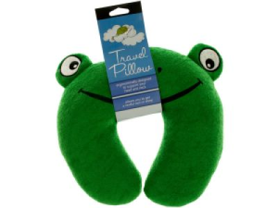 Terry Frog Travel Pillow, 12