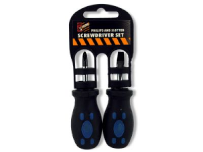 Stubby Philips & Slotted Screwdriver Set, 24
