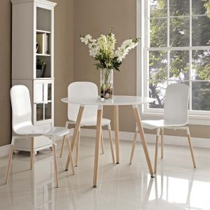 Track Round Dining Table, White