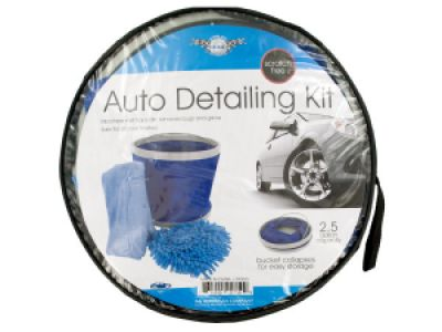 Car Wash Kit with Collapsible Bucket, 1