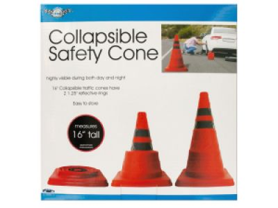 Collapsible Traffic Safety Cone with Reflective Rings, 1