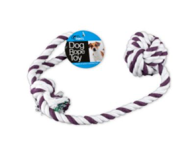 Knotted Rope Dog Toy with Ball, 24