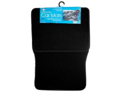 Universal Black Car Mat Set, 2